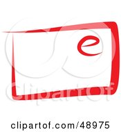 Royalty Free RF Clipart Illustration Of A Red Email by Prawny