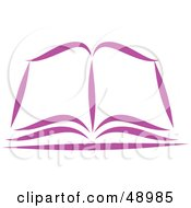 Royalty Free RF Clipart Illustration Of A Purple Open Bible Or Book by Prawny #COLLC48985-0089
