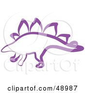 Royalty Free RF Clipart Illustration Of A Purple Stegosaur by Prawny