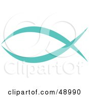 Royalty Free RF Clipart Illustration Of A Blue Christian Fish by Prawny #COLLC48990-0089