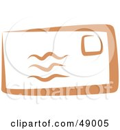 Royalty Free RF Clipart Illustration Of A Stampled Orange Envelope by Prawny