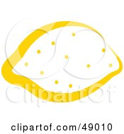 Royalty Free RF Clipart Illustration Of A Yellow Outlined Lemon