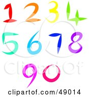 Royalty Free RF Clipart Illustration Of A Colorful Digital Collage Of Numbers