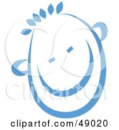 Royalty Free RF Clipart Illustration Of A Blue Happy Childs Face