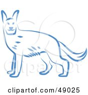 Royalty Free RF Clipart Illustration Of A Blue Dog