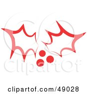 Royalty Free RF Clipart Illustration Of Red Christmas Holly by Prawny