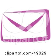 Royalty Free RF Clipart Illustration Of A Purple Envelope by Prawny