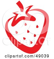 Royalty Free RF Clipart Illustration Of A Juicy Red Strawberry Outline
