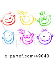 Royalty Free RF Clipart Illustration Of A Digital Collage Of Happy Children Faces
