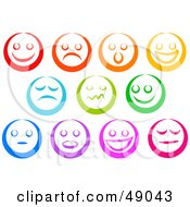 Royalty Free RF Clipart Illustration Of A Digital Collage Of Colorful Emoticon Faces