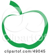 Royalty Free RF Clipart Illustration Of A Green Apple