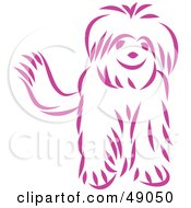 Royalty Free RF Clipart Illustration Of A Purple Dog