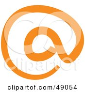 Royalty Free RF Clipart Illustration Of An Orange Arobase Drawing