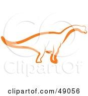 Orange Apatosaurus