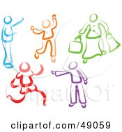 Royalty Free RF Clipart Illustration Of A Colorful Digital Collage Of People by Prawny