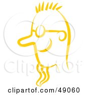 Royalty Free RF Clipart Illustration Of A Yellow Mans Face