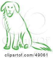 Royalty Free RF Clipart Illustration Of A Green Dog