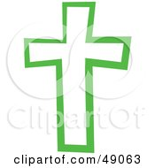 Royalty Free RF Clipart Illustration Of A Green Cross