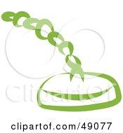 Royalty Free RF Clipart Illustration Of A Green Drain Plug by Prawny