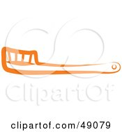 Royalty Free RF Clipart Illustration Of An Orange Hairbrush