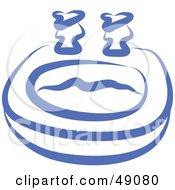 Royalty Free RF Clipart Illustration Of A Blue Bathroom Sink by Prawny
