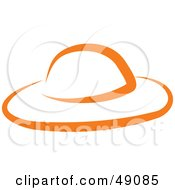 Royalty Free RF Clipart Illustration Of An Orange Hat by Prawny