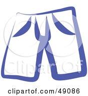 Royalty Free RF Clipart Illustration Of Blue Shorts by Prawny