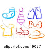 Royalty Free RF Clipart Illustration Of A Digital Collage Of Apparel And Accessories