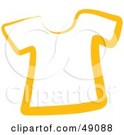 Royalty Free RF Clipart Illustration Of A Yellow T Shirt by Prawny