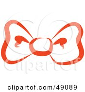 Royalty Free RF Clipart Illustration Of A Red Bow Tie