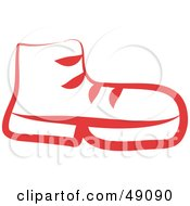 Royalty Free RF Clipart Illustration Of A Red Boot by Prawny