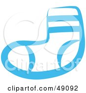 Royalty Free RF Clipart Illustration Of A Blue Sock by Prawny