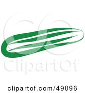 Royalty Free RF Clipart Illustration Of A Green Cucumber