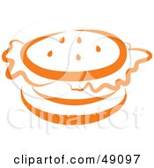 Royalty Free RF Clipart Illustration Of An Orange Hamburger