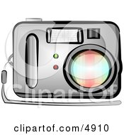 Standard Point And Shoot Digital Camera With Flash Clipart