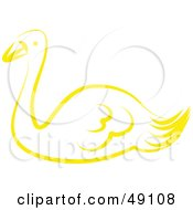 Royalty Free RF Clipart Illustration Of A Yellow Swan