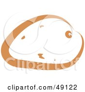 Royalty Free RF Clipart Illustration Of A Brown Potato