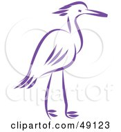 Royalty Free RF Clipart Illustration Of A Purple Heron
