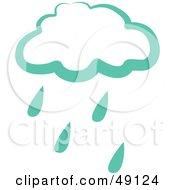 Royalty Free RF Clipart Illustration Of A Green Rain Cloud by Prawny