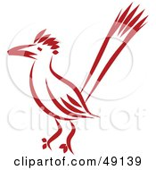 Royalty Free RF Clipart Illustration Of A Red Roadrunner by Prawny