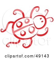Royalty Free RF Clipart Illustration Of A Red Ladybug by Prawny