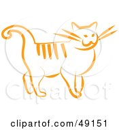 Royalty Free RF Clipart Illustration Of An Orange Kitty Cat by Prawny