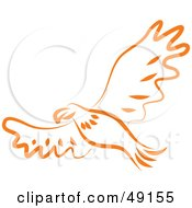 Royalty Free RF Clipart Illustration Of An Orange Eagle by Prawny