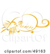 Royalty Free RF Clipart Illustration Of An Orange Mole by Prawny