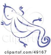Royalty Free RF Clipart Illustration Of A Purple Lizard by Prawny