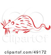 Royalty Free RF Clipart Illustration Of A Red Rat by Prawny