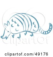 Royalty Free RF Clipart Illustration Of A Blue Armadillo