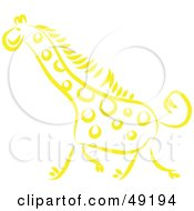 Royalty Free RF Clipart Illustration Of A Yellow Giraffe by Prawny