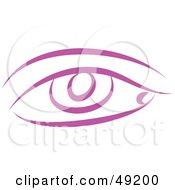 Royalty Free RF Clipart Illustration Of A Purple Eye by Prawny
