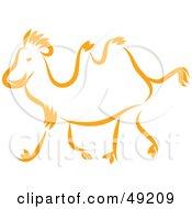 Royalty Free RF Clipart Illustration Of An Orange Camel